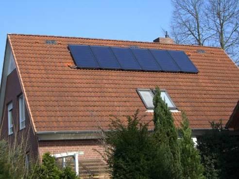 Solaranlage für Trinkwasser und Heizungsunterstützung